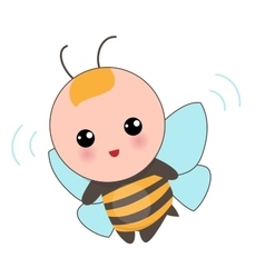 Babies of bee suit vector