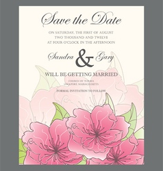 Invitation wedding card vector image