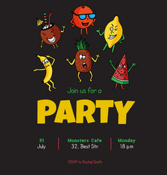 Fruit party vector