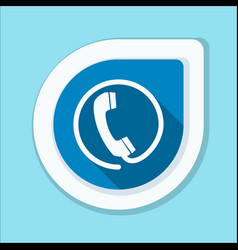 Contact phone button vector