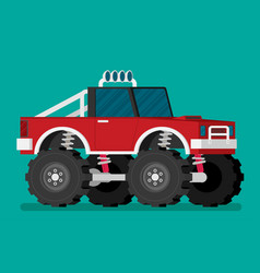 off road car isolated on color background monster vector image