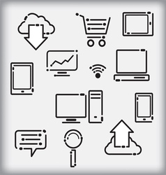 Set of infographic icons vector