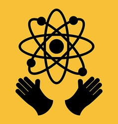 Atomic icon vector
