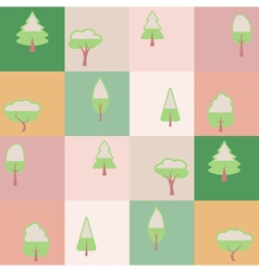Seamless background with tree vector image