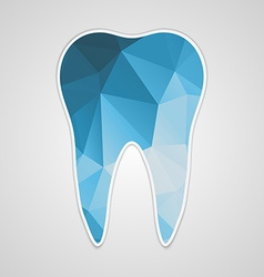 Paper polygonal blue tooth vector