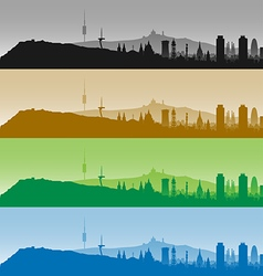 Barcelona skyline profiles vector