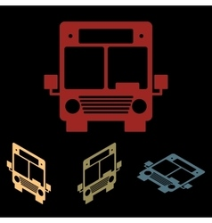 Bus icon set vector