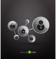 login background vector image