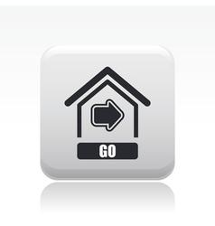 go icon vector image