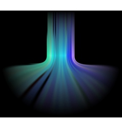 Abstract aurora lights background vector