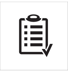 Action plan clipboard icon design over a white vector image