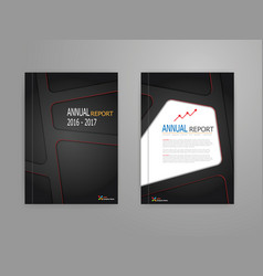 black red line on dark background annual report vector image