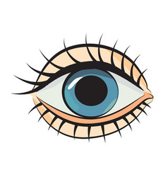 Cartoon image of eye vector