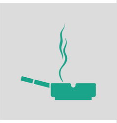 Cigarette in an ashtray icon vector image