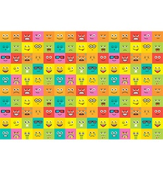 Colorful emotions seamless pattern vector