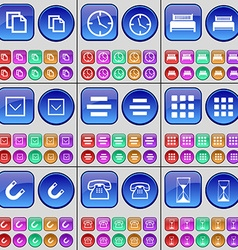 Copy clock bed arrow down list apps magnet phone vector