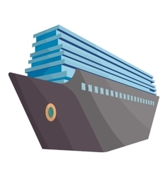 Cruise ship icon cartoon style vector