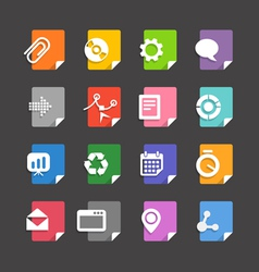 Different file types icons set vector image vector image