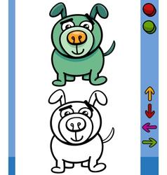 dog game character cartoon vector image vector image