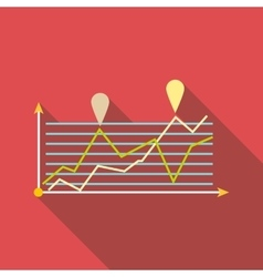 Growth chart infographics icon flat style vector