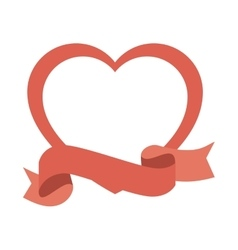 Heart love silhouette icon vector