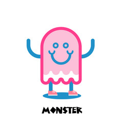 Kids monster logo vector