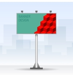 Outdoor billboard with cubes vector image