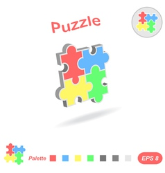 Puzzle logo conception vector