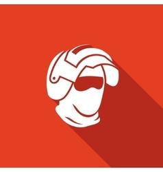 Riot helmet icon army special forces head vector