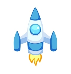 Rocket icons isolated vector image vector image