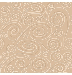Seamless background with spirals pattern vector image vector image