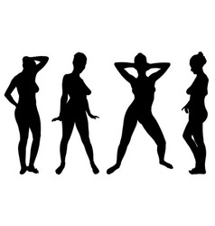 set of different women posing vector image vector image