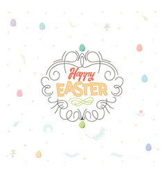 spring - easter is a beautiful badge like a vector image