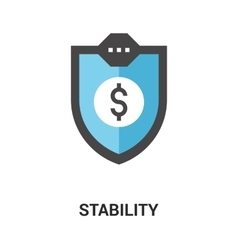Stability icon concept vector