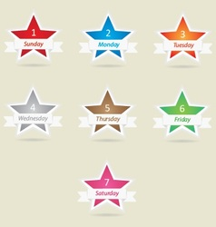 Star week days vector image vector image