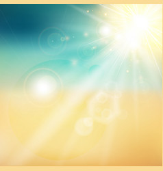 Summer sun and beach shiny sunlight from the sky vector