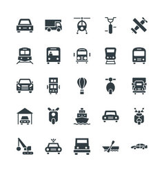 Transport Cool Icons 3 vector image vector image