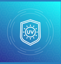 Uv protection line icon symbol vector