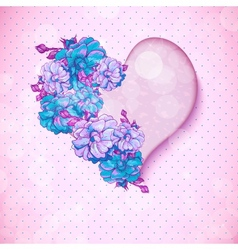 Valentines day floral background with hearts vector image vector image