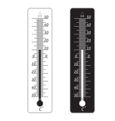 Weather thermometer icon vector image vector image
