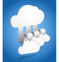 Clouds and arrows vector