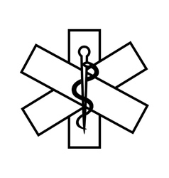 Caduceus sign isolated icon vector