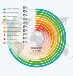 Circle informative infographics 10 options vector