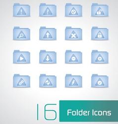 Folders icons vector