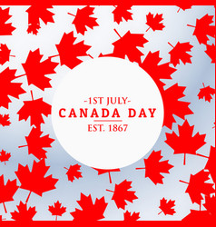 Canada day background with leafs vector