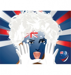 crowd goes wild Australia vector image