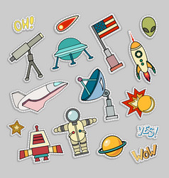Cosmos patch badges vector