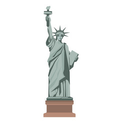 Famous statue of liberty with torch isolated vector