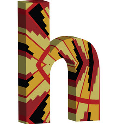 3d font letter h vector