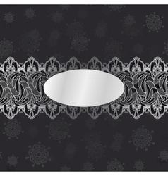 Dark vintage invitation card vector image